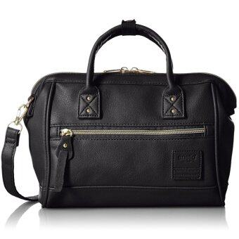 ANELLO MINI LEATHER BOSTON 2-WAY (BLACK)