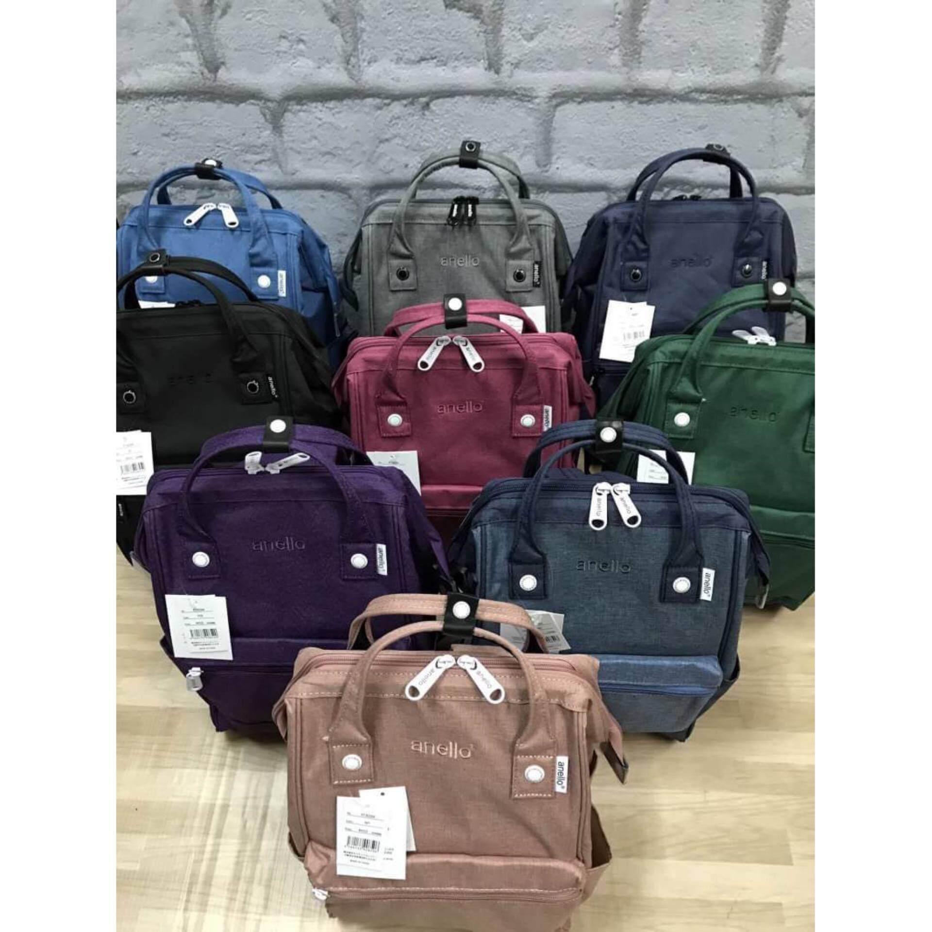 การใช้งาน  นราธิวาส Anello Mottled Polyester Mini Backpack