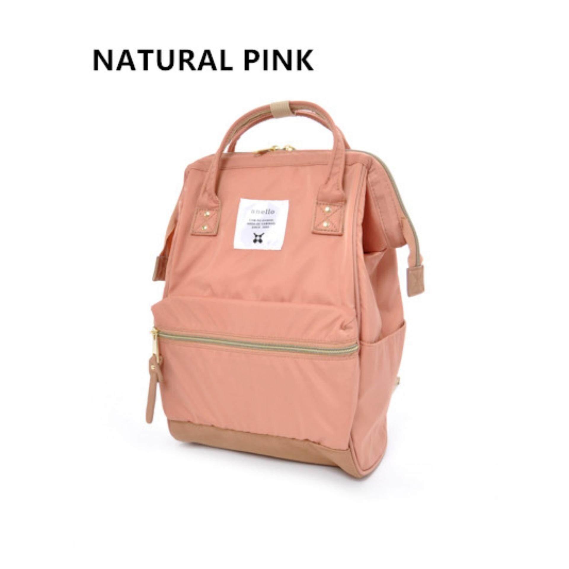 ยี่ห้อนี้ดีไหม  ตาก กระเป๋าเป้สะพายหลัง Anello Nylon Unisex Backpack Natural Pink (Classic Size) - Japan Imported 100%
