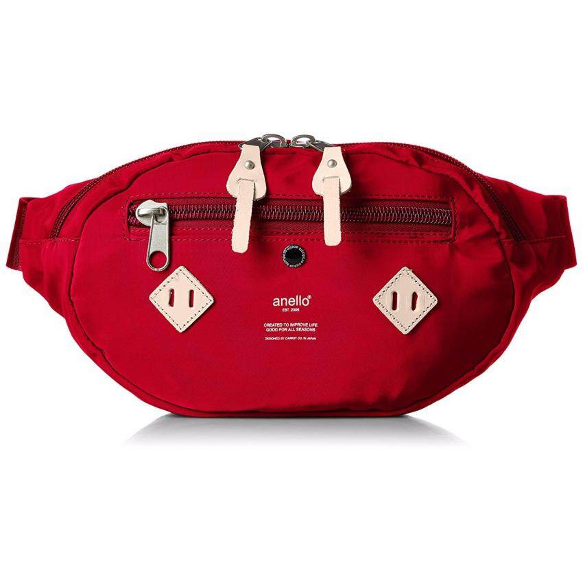 Anello Nylon Waist Bag กระเป๋าคาดอก (Red)