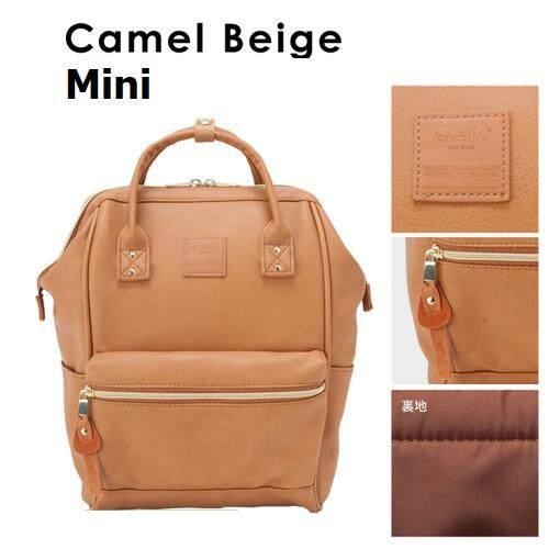 การใช้งาน  แพร่ กระเป๋าเป้ Anello PU Backpack Camel Beige (Mini Size) - Japan Imported 100%