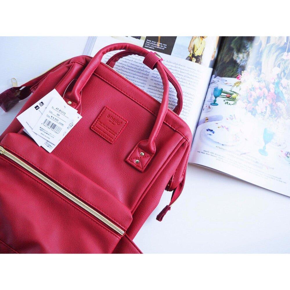ยี่ห้อนี้ดีไหม  ประจวบคีรีขันธ์ กระเป๋าเป้ Anello PU Backpack Wine (Mini Size) - Japan Imported 100%