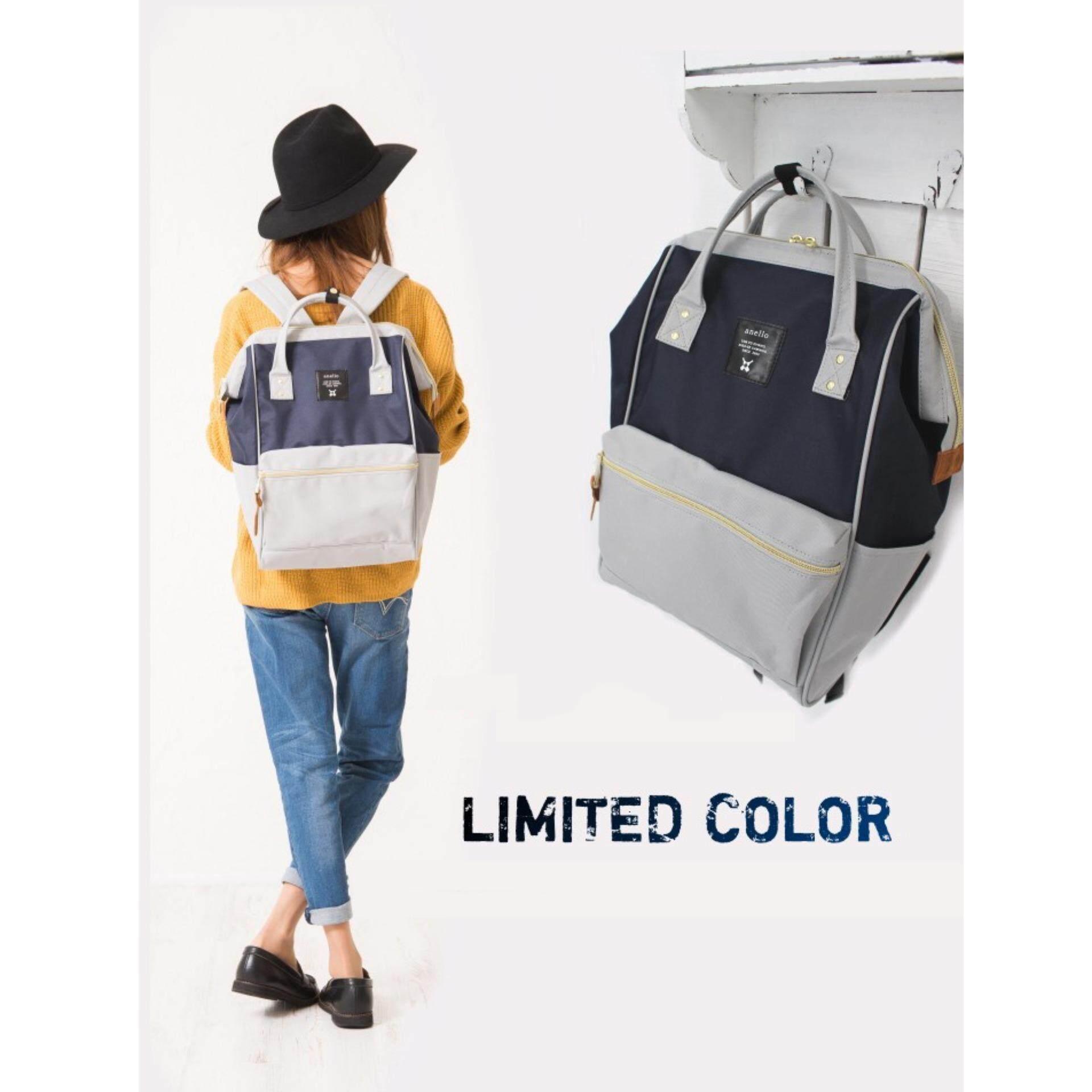 สอนใช้งาน  ขอนแก่น กระเป๋าเป้ Anello Canvas Unisex Backpack NL - (Classic Size) Japan Imported 100%
