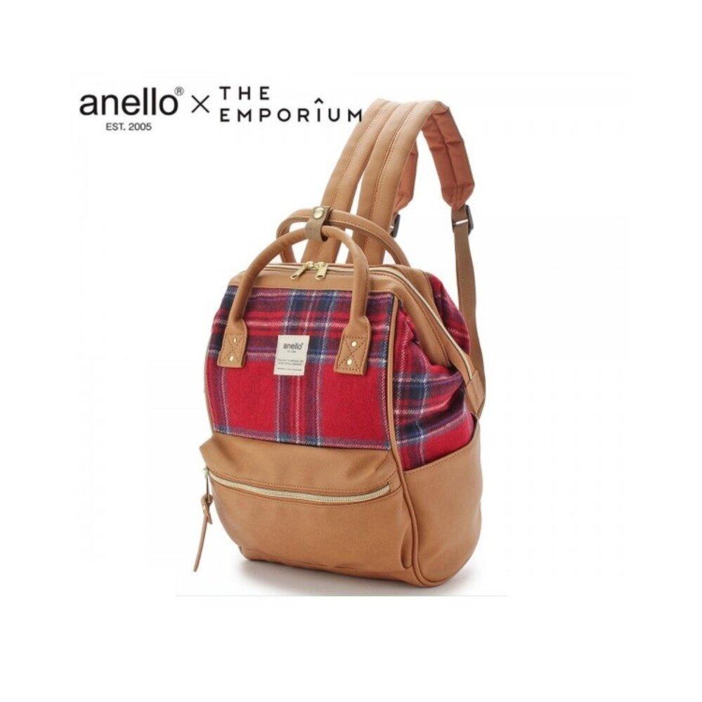 ยี่ห้อนี้ดีไหม  ชุมพร กระเป๋าเป้สะพายหลัง Anello X THE EMPORIUM Limited Autumn Edition Red Checkered