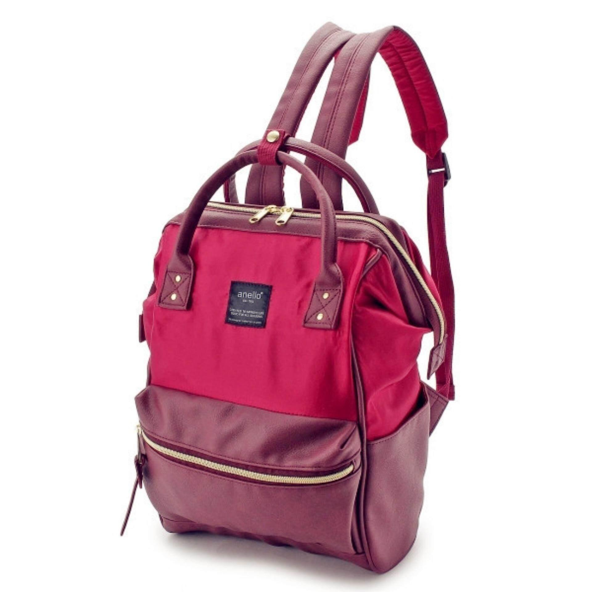 ยี่ห้อนี้ดีไหม  นครปฐม กระเป๋าเป้สะพายหลัง Anello x The Emporium Mini Backpack Limited Edition (Wine)
