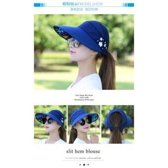 ผู้หญิงสุภาพสตรีอาทิตย์หมวกฤดูร้อนแคชชวลการท่องเที่ยวป่า Anti-UV