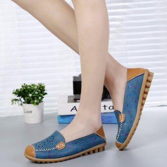รองเท้าหนังใส่สบาย ๆ รองเท้าเดียวรองเท้าแม่