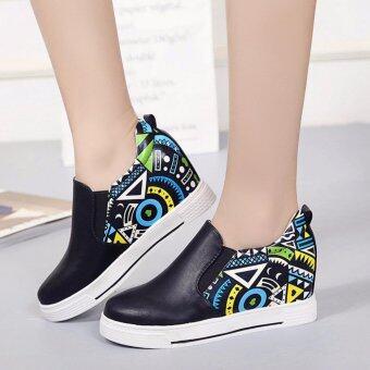 รองเท้าหนังสีขาวรองเท้าหนังสีขาวรองเท้าส้นสูงเกาหลีรองเท้าส้นเตารีดรองเท้าส้นสูง