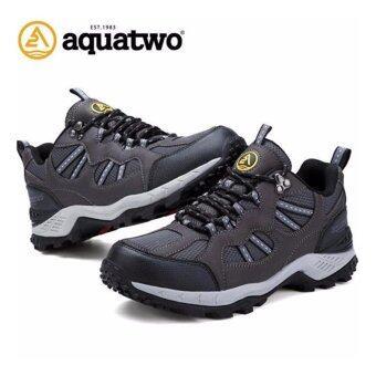 รองเท้าหนังแท้ Aquatwo กันน้ำอย่างดี เดินลุยป่า ปีนเขาอย่างมั่นใจ ทนทาน รุ่น 304 (สีเทา)