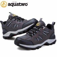 Aquatwo  รองเท้ากีฬาน้ำหนักเบา สำหรับเล่นกีฬาและกิจกรรมกลางแจ้ง ปีนเขา เดินป่า พื้นคุณภาพยึดเกาะดีเยี่ยม รุ่น304 สีเทาดำ
