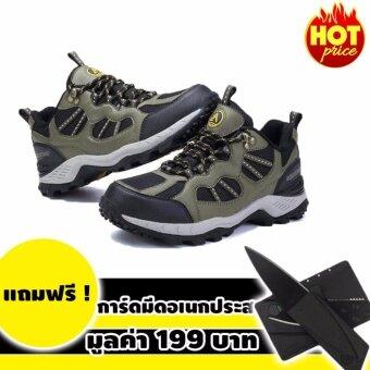 ประเทศไทย Aquatwo รุ่น 304 (สีเขียว) รองเท้ากันน้ำ พื้นนิ่ม ใส่วิ่งเทรล ใส่เดินป่า เดินทางไกล แถมฟรีมีดการ์ด มูลค่า 199 บาท