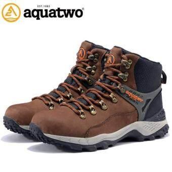 Aquatwo 937 หนังแท้ กันน้ำ สวย เท่ห์ ลุย ทนสุดๆ รุ่น 937 (สีน้ำตาลเข้ม)