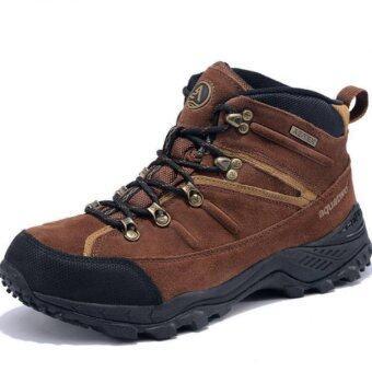 ราคา Aquatwo รองเท้าบูทหนังแท้ Hiking Boots รุ่น S943 (สีน้ำตาลเข้ม)