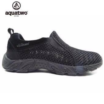 รองเท้าผู้ชาย Aquatwo Relax Shoes รุ่น N957 รองเท้ากันน้ำ รองเท้าใส่ลุยน้ำ โปร่งโล่ง ใส่สบาย (สีดำ)