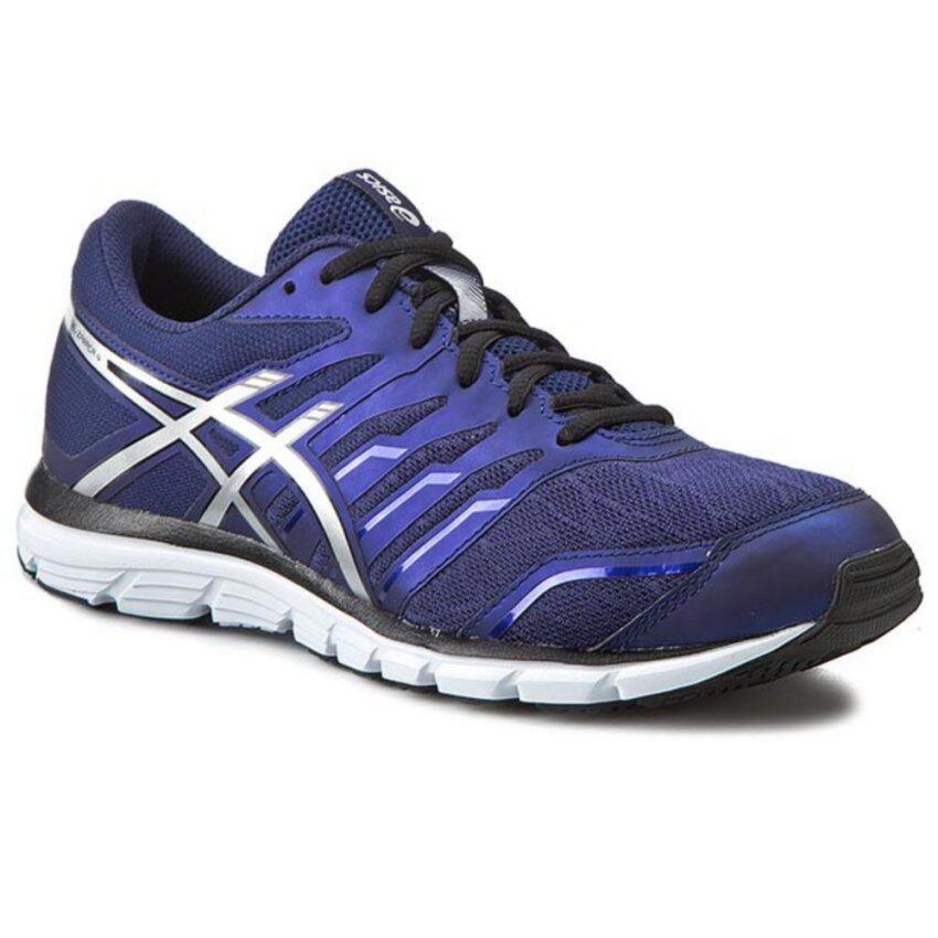 Asics Men Running Shoes รองเท้าวิ่งผู้ชาย GEL-ZARACA 4-INDIGO BLUE/SILVER/BLACK
