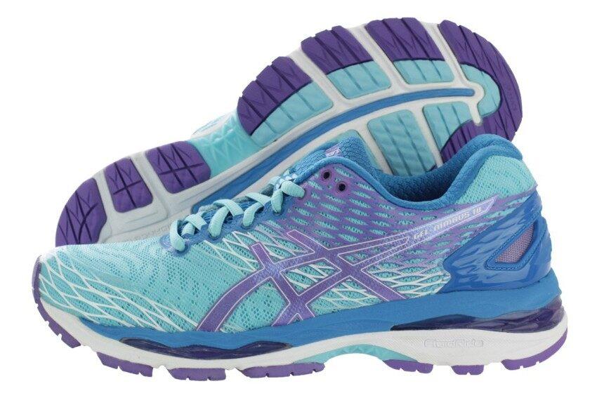 ASICS Women Running รองเท้าวิ่งผู้หญิง GEL-NIMBUS 18 #T650N.4035 (TURQUOISE/IRIS/METHYL BLUE)