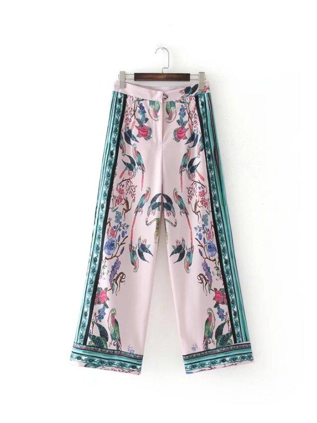 ASOS ในยุโรปและอเมริกาสีชมพูฤดูร้อนใหม่กางเกงขายาว (เช่นมะเดื่อ)