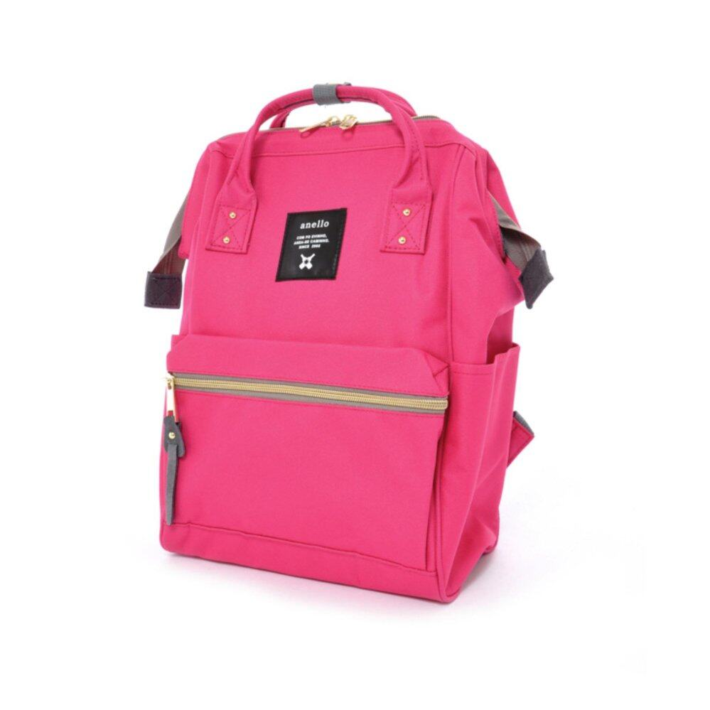 ยี่ห้อไหนดี  จันทบุรี Authentic Anello Japan Imported Canvas Mini Size Unisex Backpack - Rose