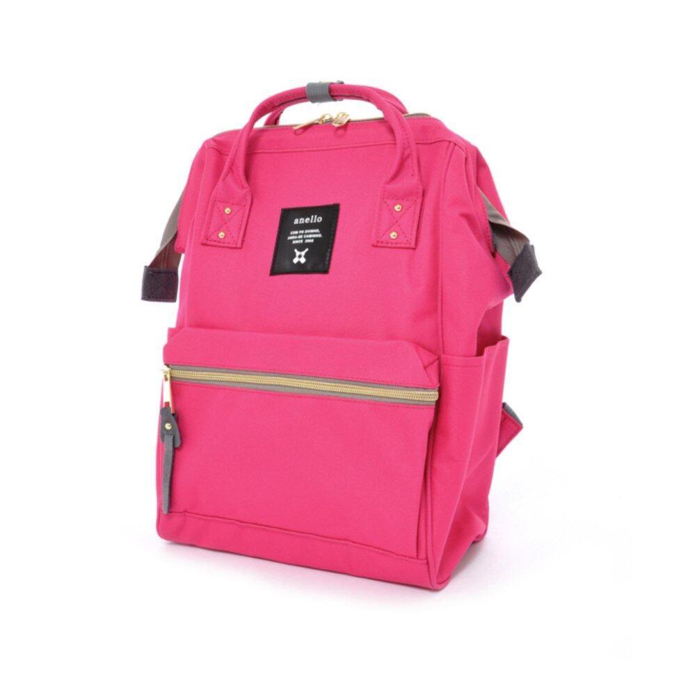 ยี่ห้อไหนดี  จันทบุรี Authentic Anello Japan Imported Canvas Mini Size Unisex Backpack - Rose