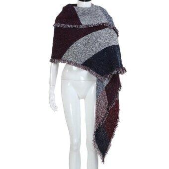 ฤดูใบไม้ร่วงฤดูใบไม้ผลิฤดูหนาวผู้หญิงผ้าขนสัตว์แคชเมียร์อบอุ่น Stole Scarves ผ้าพันคอผ้าคลุมไหล่