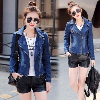 Autumn Dress New Women's Korean Version Slim Short Women's Jeans\nJacket - intl