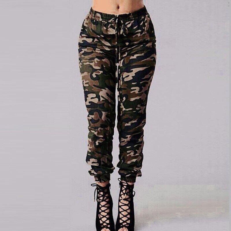 ขาย Autumn Women Camouflage Printed Pants ZANZEA Design Trousers Military Elastic Waist Pants Plus Size S-3XL - intl