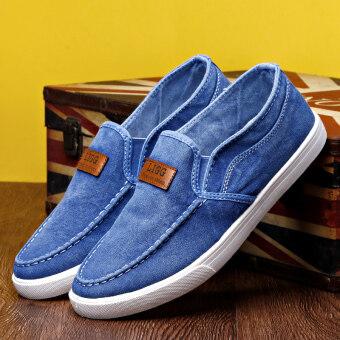 ขี้เกียจเก่าปักกิ่งผู้ชายรองเท้าผ้าใบรองเท้าน้ำ (B01 สีฟ้าอ่อน (Oxford ด้านล่าง))