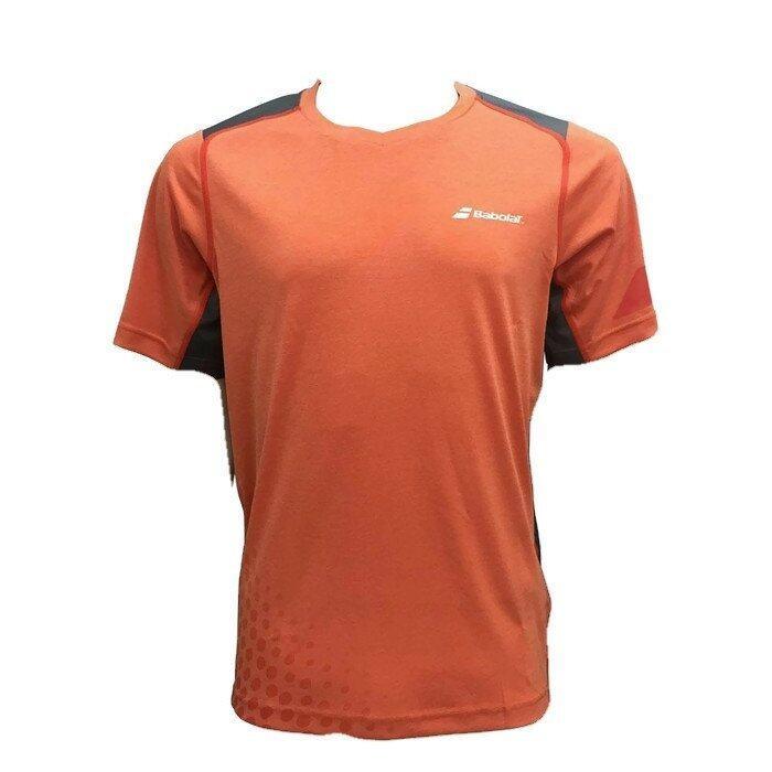 BABOLAT เสื้อเทนนิส T-SHIRT V-NECK PERF (ORANGE/สีส้ม)