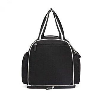 Baby Diaper Bag Backpack Organizer – James Moore New York Unisex Black Shoulder Crossbody Diaper Tote Bag for Moms - intl