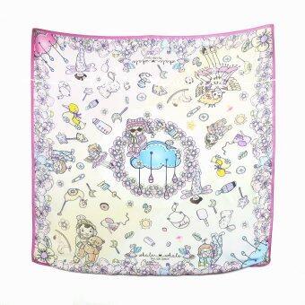 Baby Touch ผ้าพันคอ ซิลค์ซาติน (My Little Space - สีรุ้ง)