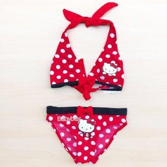 ชุดว่ายน้ำเด็กอ่อน ชุดว่ายน้ำเด็กเล็ก บิกินี่เด็กอ่อน บิกินี่เด็กเล็กลาย polka dot