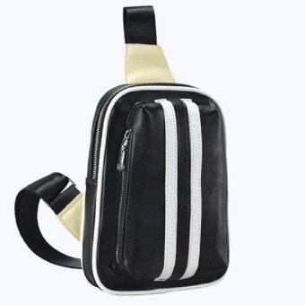 กระเป๋าสะพายไหล่ผู้ชาย คาดอก คาดเอว รุ่น 037 สีดำ