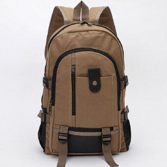Bag Fashion กระเป๋าเป้สะพายหลัง กระเป๋าแบ็คแพ็ค รุ่น030 (สีน้ำตาล)
