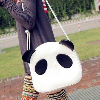 ต้องการขายด่วน กระเป๋าสะพายข้าง กระเป๋าทรงกลมรูปหมีแพนด้า รุ่น088 (สีขาว)