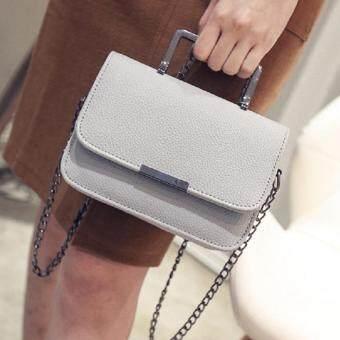 Bag Fashion กระเป๋าถือแฟชั่น พร้อมสะพายข้าง รุ่นxm (สีเทา)