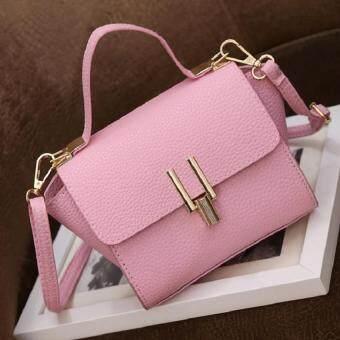 กระเป๋าถือแฟชั่น พร้อมสะพายข้าง รุ่นxx2 (สีชมพู)