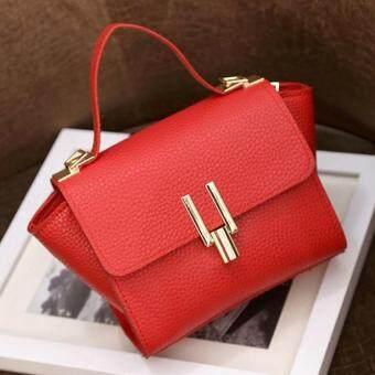 กระเป๋าถือแฟชั่น พร้อมสะพายข้าง รุ่นxx2 (สีแดง)