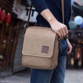 Bag Gammon กระเป๋าสะพายข้าง Handy ผ้าแคนวาส (สีกากี)