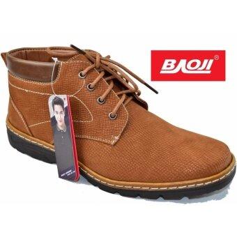 Baoji รองเท้าผ้าใบผู้ชายหุ้มข้อ BAOJI รุ่น BK3008 (สีเหลือง)