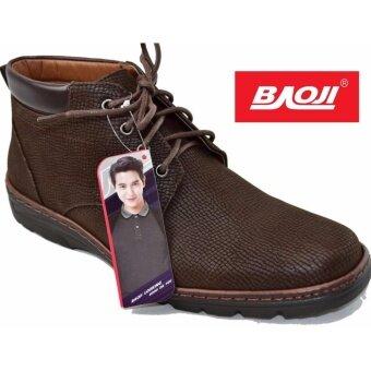 Baoji รองเท้าผ้าใบผู้ชายหุ้มข้อ BAOJI รุ่น BK3008 (สีน้ำตาล)