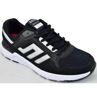 Baoji รองเท้าผ้าใบผู้ชายBAOJI รุ่น JamesJi001 (Black/Silver)