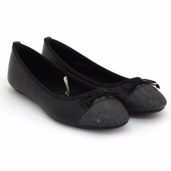 BATA รองเท้าแฟชั่นบัลเล่ต์ ผู้หญิง ส้นเตี้ย LADIES'CASUAL BALLET FLAT สีดำ รหัส 5516819