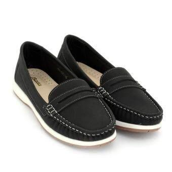 BATA รองเท้าแฟชั่นผู้หญิงคัชชูส้นเตี้ย LADIES'CASUAL MOCCASINE สีดำ รหัส 5516273