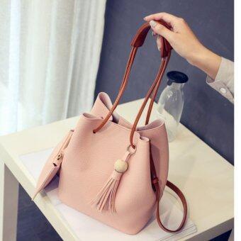 BB กระเป๋าสะพาย กระเป๋าสตางค์ เซตกระเป๋า 2 ใบ (สีชมพู) รุ่น 8020