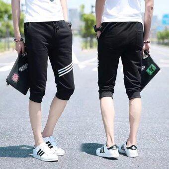BB กางเกงขา3ส่วน ดีไซน์สวย โดดเด่น (สีดำ) รุ่น 587