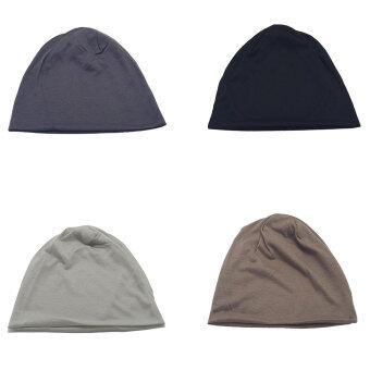 เพศ Beaniesฝ้ายปั่นซีเกมส์อุ่นฤดูเทศกาลสวมหมวกสีทึบสวมหมวกสวมหมวกสีดำ - 4