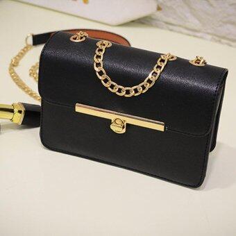 BEST กระเป๋า กระเป๋าสะพาย กระเป๋าสะพายพาดลำตัว Women Shoulder bag – R1115Black