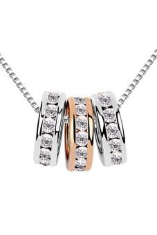 Bluelans® แหวนสร้อยคอโซ่สาม (ทอง/เงิน)