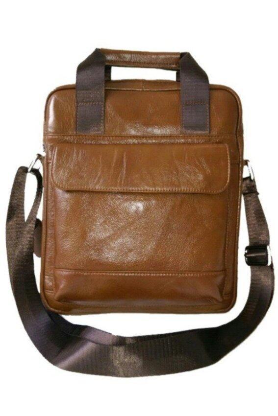 BOGESI กระเป๋าสะพายแบบมีหูหิ้ว หนังแท้ รุ่น K502 - 1(สีน้ำตาล)