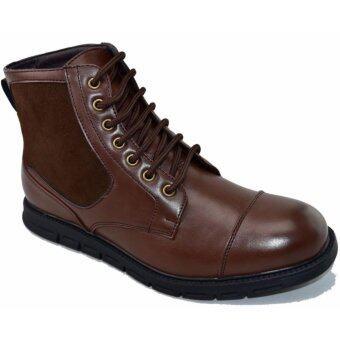 BOK รองเท้าหนังผู้ชายหุ้มข้อ รุ่น BOK104(Brown)